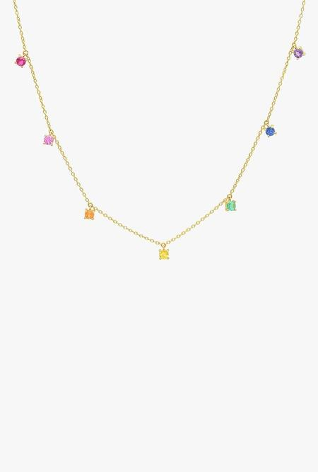 Eriness Rainbow Charm Necklace - 14K Gold Necklace