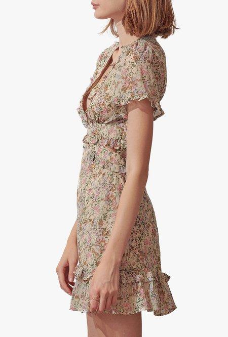 Azalea Ruby Floral Short Sleeve Mini Dress - Multi