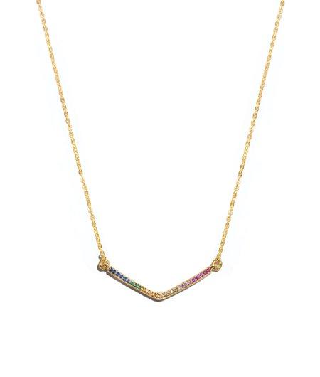 Shana Gulati Small V Pendant RNBW k-jewelry