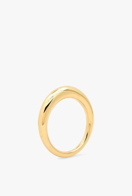 Eriness Solid Gold Asymmetrical Ring - 14kYG