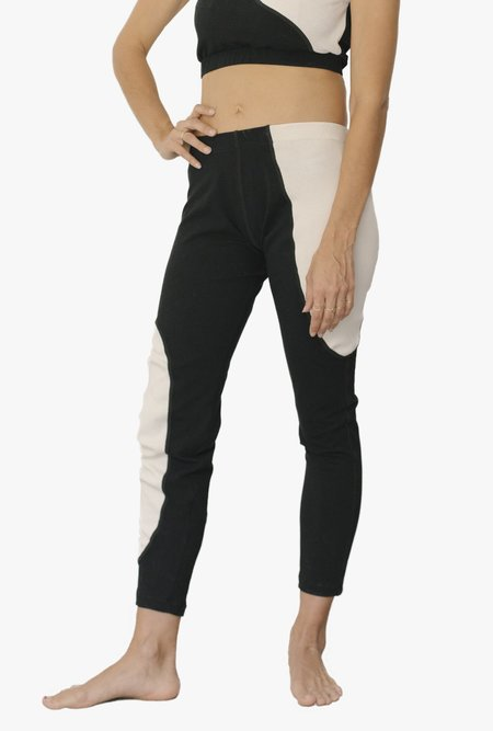 Nin Studio Swirl Sports Tights - black/natural