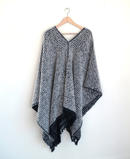 LemLem Teddy Reversible Wrap Poncho in Cloud