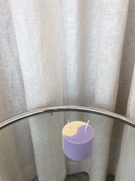 Ri-Ri-Ku YIN YANG CANDLE - YELLOW/PURPLE