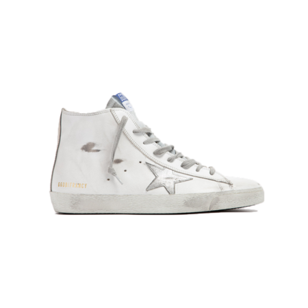 Golden Goose Francy Leather Upper Suede Sneakers - White/Silver