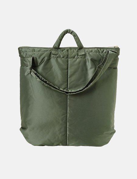 Porter Yoshida & Co Tanker 2 Way Helmet Bag - Green