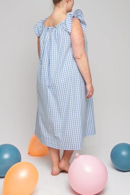Eliza Faulkner plus Party Nightie - Blue Gingham