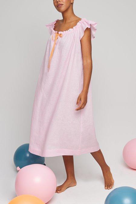 Eliza Faulkner Linen Party Nightie - Pale Pink