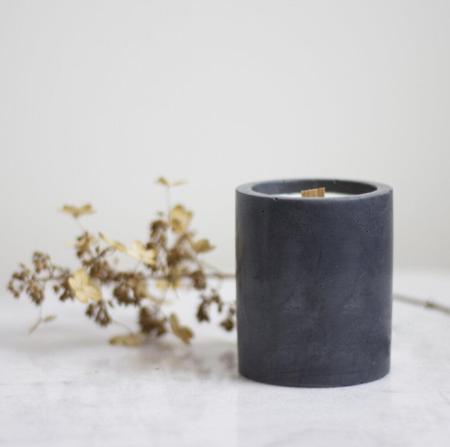 Sable Candle Co Green Tea & Lemongrass Cement Candle