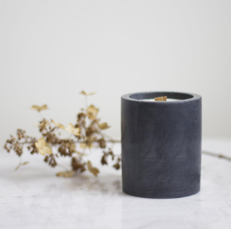 Sable Candle Co Juniper & Rose Cement Candle
