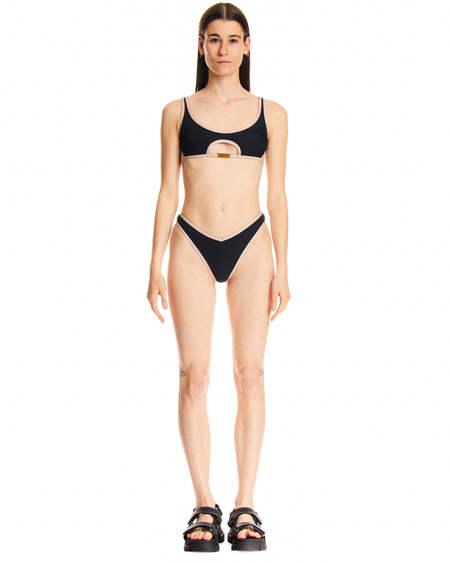 GCDS Costume Nero a Due Pezzi swim - black