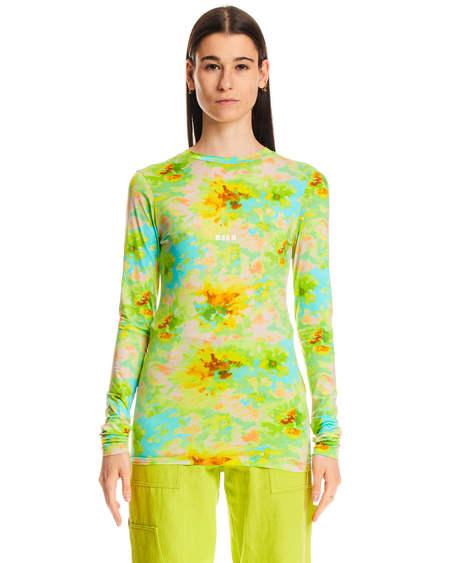 MSGM Tie Dye Pattern Sweater - blue