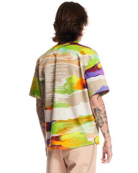 MSGM Liquid Effect Shirt - Multicolor