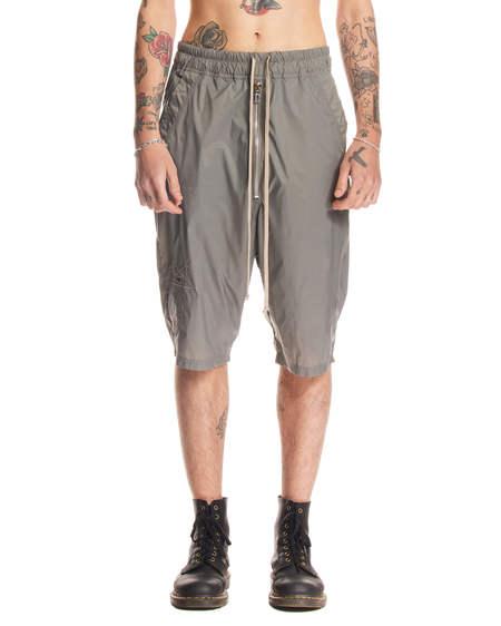 Rick Owens Drawstring Short Pants - Gray