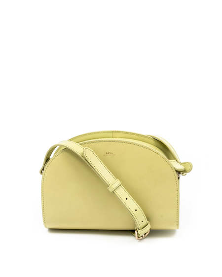 A.P.C. Demi Lune Leather Bag - Yellow
