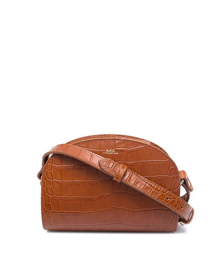 A.P.C. Mini Demi Lune Leather Bag - Brown
