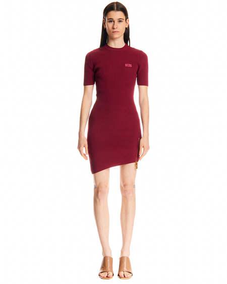 GCDS Asymmetrical Dress - Red