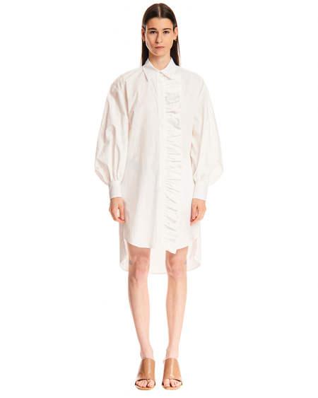 MSGM Rouches Dress - White