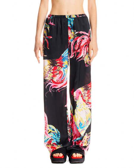 MSGM Print Trousers - Black