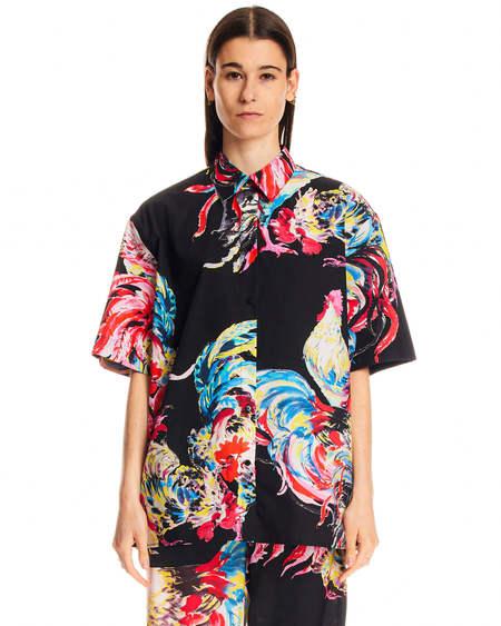 MSGM Short Sleeved Shirt - Black