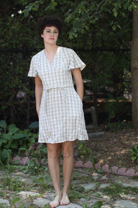 Meemoza Alexis Dress - Linen Check