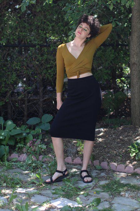 Valerie Dumaine Sammon Rib Skirt - Black