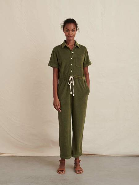 Alex Mill Benny Terry Jumpsuit - Olive Green
