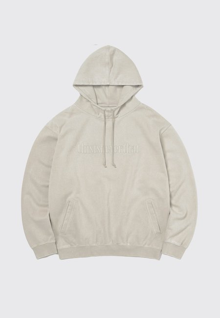 ThisIsNeverThat Washed Embroidery Hoodie - Stone