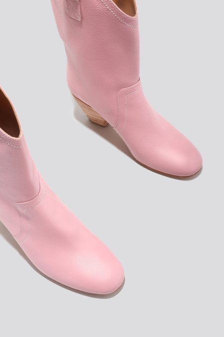 Rachel Comey Lydia Pebbled Leather Boot - Pink