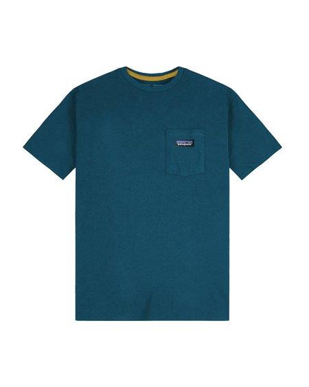 Patagonia Ms P-6 Label Pocket Responsabili Tee - Abalone Blue