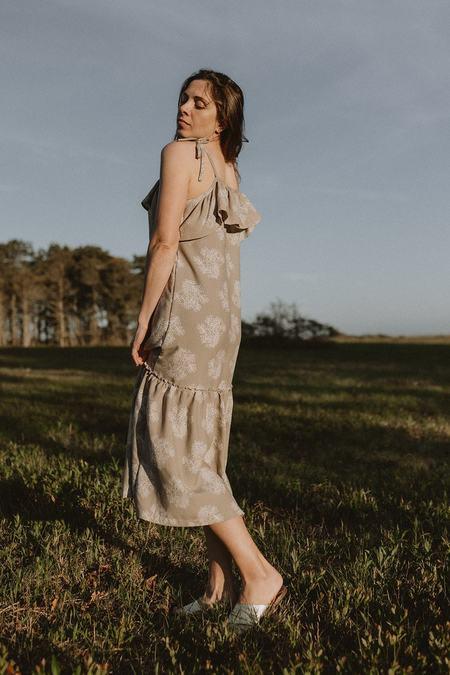 Conrado Margot Ruffled Maxi Dress - Tan