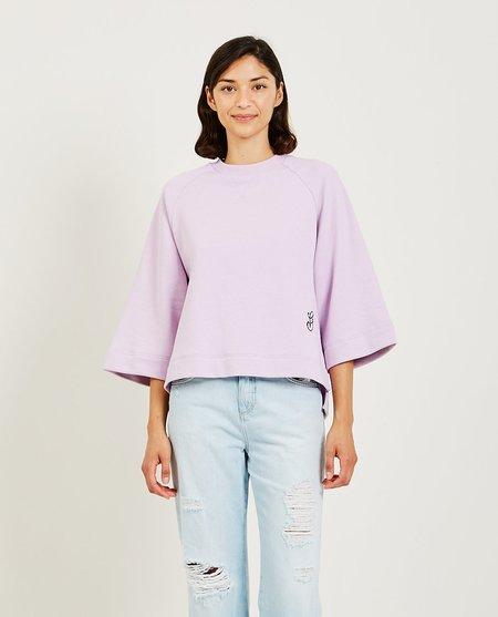 Ganni Isoli Oversized Raglan Sweatshirt - Orchid