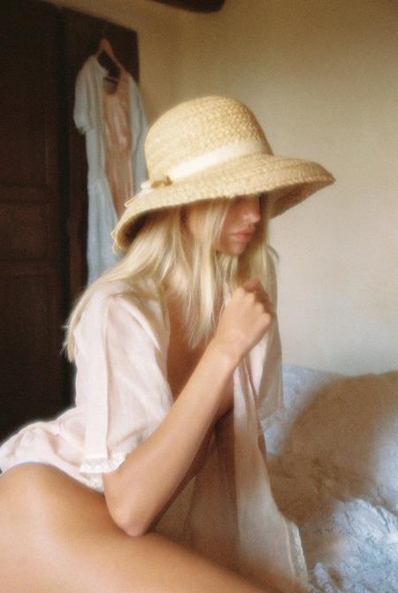Lack Of Color Bloom Raffia Hat - Natural