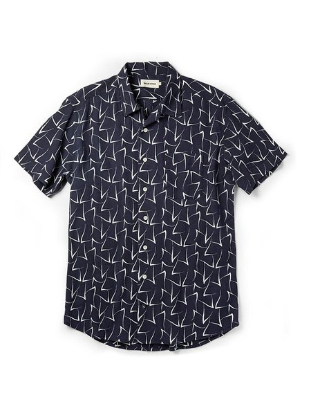 Taylor Stitch The Short Sleeve Hawthorne Shirt - Dark Navy Seagull Print