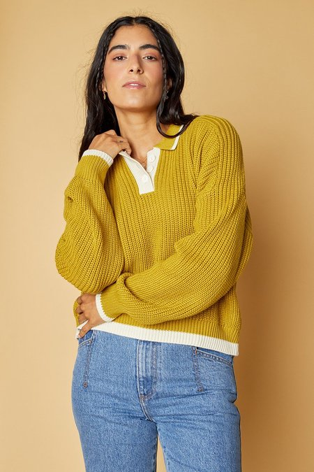 Back Beat Co. Organic Cotton Ellis Sweater - Chartreuse