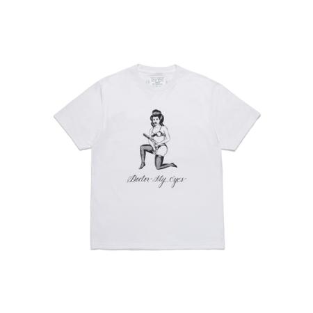 Wacko Maria Born x Raised Type-1 Crew Neck T-Shirt - White