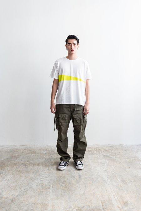 Nanamica Coolmax Graphic T-Shirt - White/Yellow