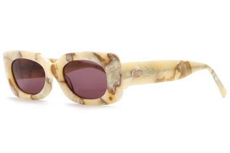 Crap Eyewear Supa Phreek Sunglasses - Cream Marble Bio/Plum
