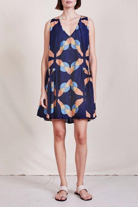 Apiece Apart Risarito Mini Dress - Shibori Geo Floral