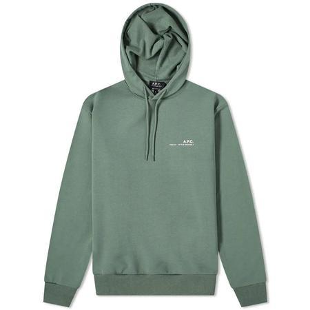 A.P.C. Item Hoodie - Green