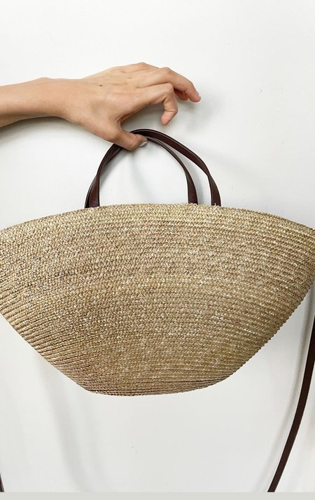 J Exquisite Straw Handbag - Natural Raffia