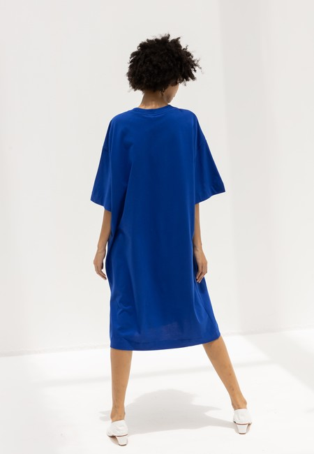KOWTOW T SHIRT DRESS - BRIGHT BLUE