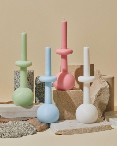 Geo Sphere Candles - Just White