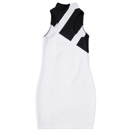 ADIDAS WOMEN'S MESH DRESS WHITE / BLACK