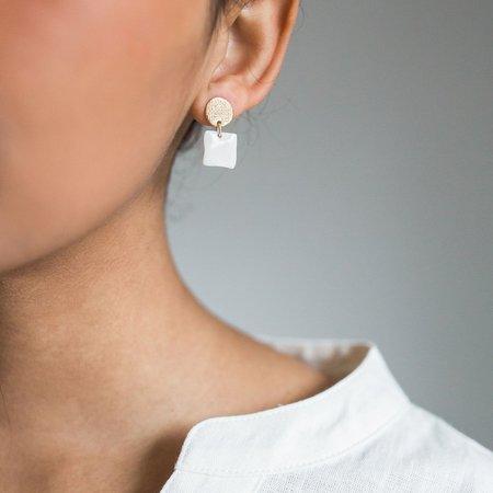 Mabel and Moss Mini Link Geometric Earrings - Gold