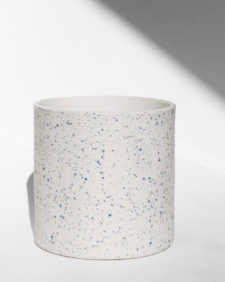 Guten Co Cobalt Speckled Planter - white