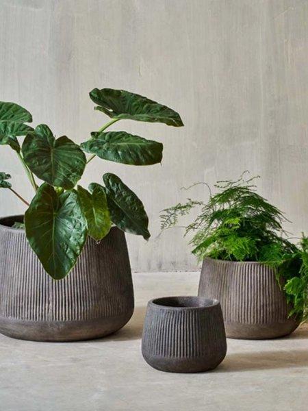 Nkuku Small Wampu Wide Planter - Brown/Black