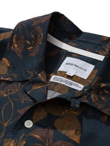 Norse Projects Carston Print Shirt - Dark Navy