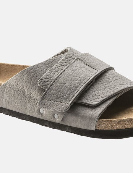 Birkenstock Kyoto Nubuck Regular Soft Footbed Sandal - Grey