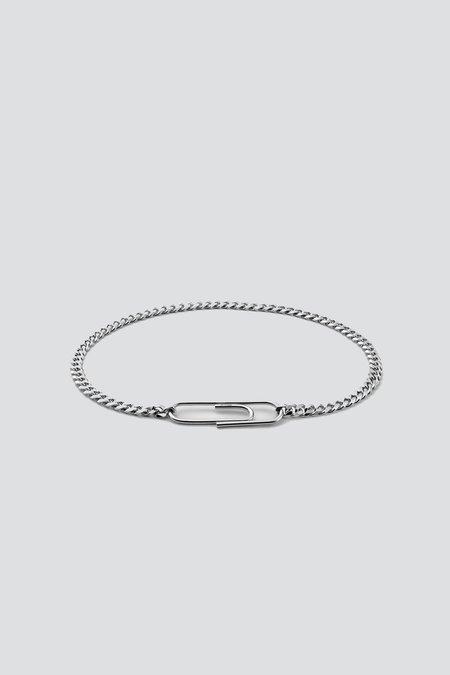 Miansai Cuban Link Paper Clip Bracelet - Sterling Silver