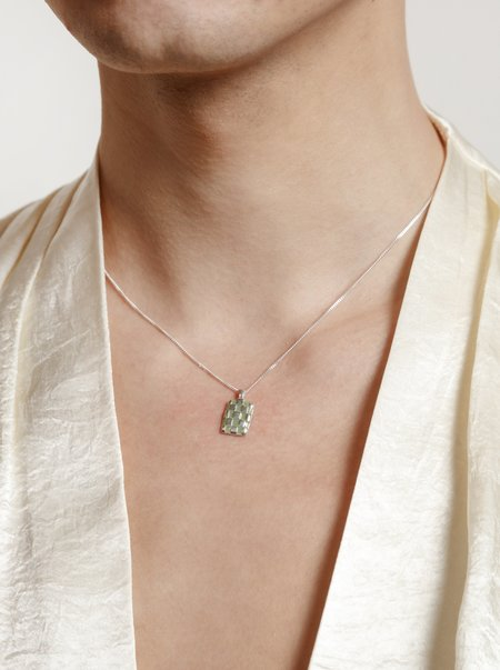 Wolf Circus - Penny Necklace - Silver/Green